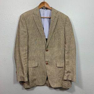 LAUREN RALPH LAUREN beige Glen Check sportcoat 40L